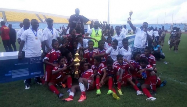 Prisons Ladies beat Police to lift Sanford Women's FA Cup trophy