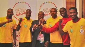 Black Stars players join the anti-malaria campaign