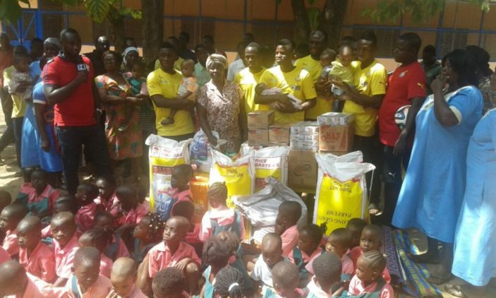 Black Stars donate to two orphanages in Tamale