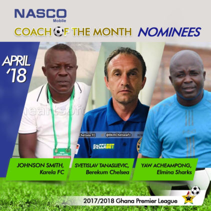 PLB REVEALS NASCO COACH AND PLAYER OF THE MONTH NOMINEES FOR APRIL