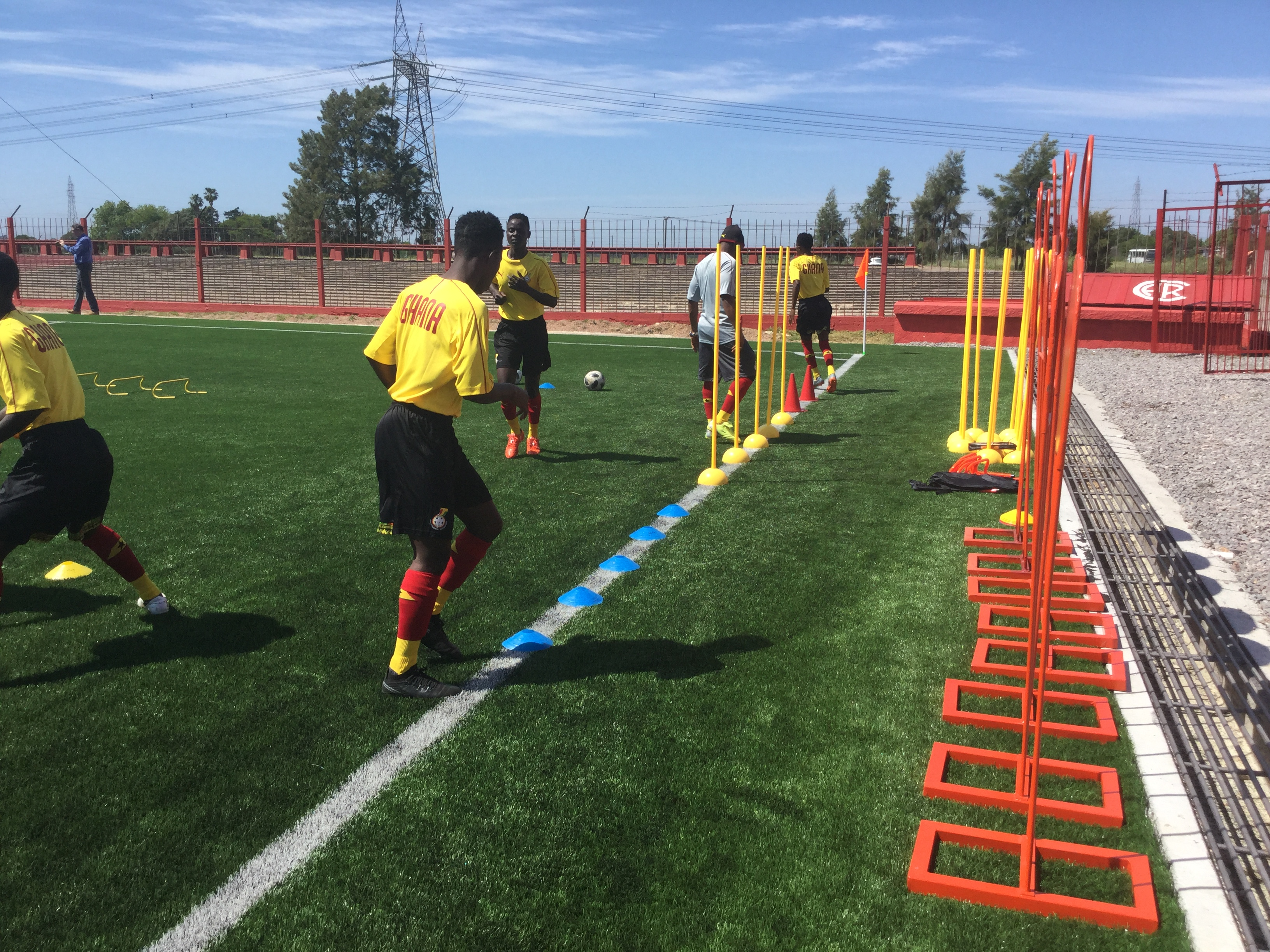Black Maidens hold first training session in Uruguay