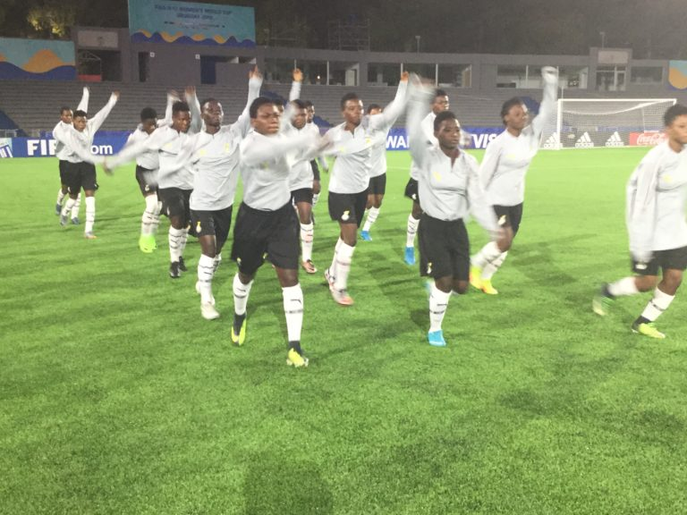 Black Maidens hold Official training session at Estadio Churrua