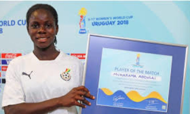 Black Maidens captain Mukarama Abdulai wins Golden Boot at FIFA U17 WWC