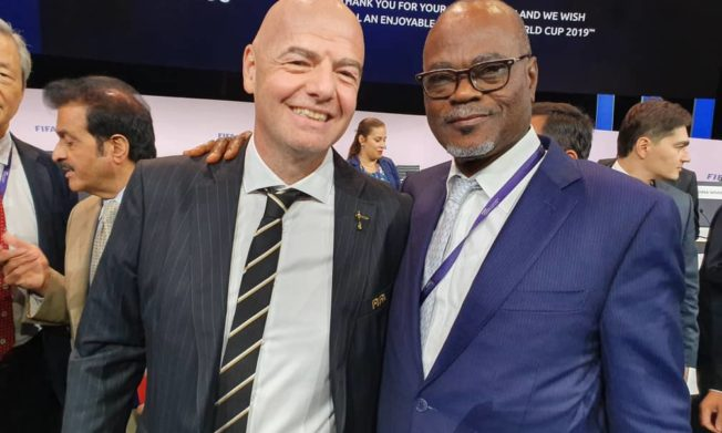 Ghana FA congratulates Infantino on FIFA re-election in Paris