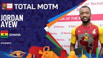 Jordan Ayew wins best player award as Benin hold Ghana in AFCON opener