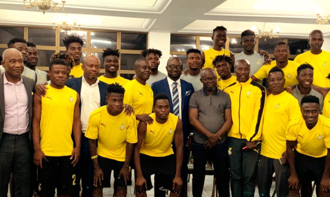 GFA President visits Black Meteors in camp