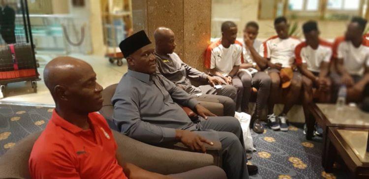 Ghana's Ambassador to Egypt Dr Nii Okai Hammond visits Black Meteors camp in Cairo