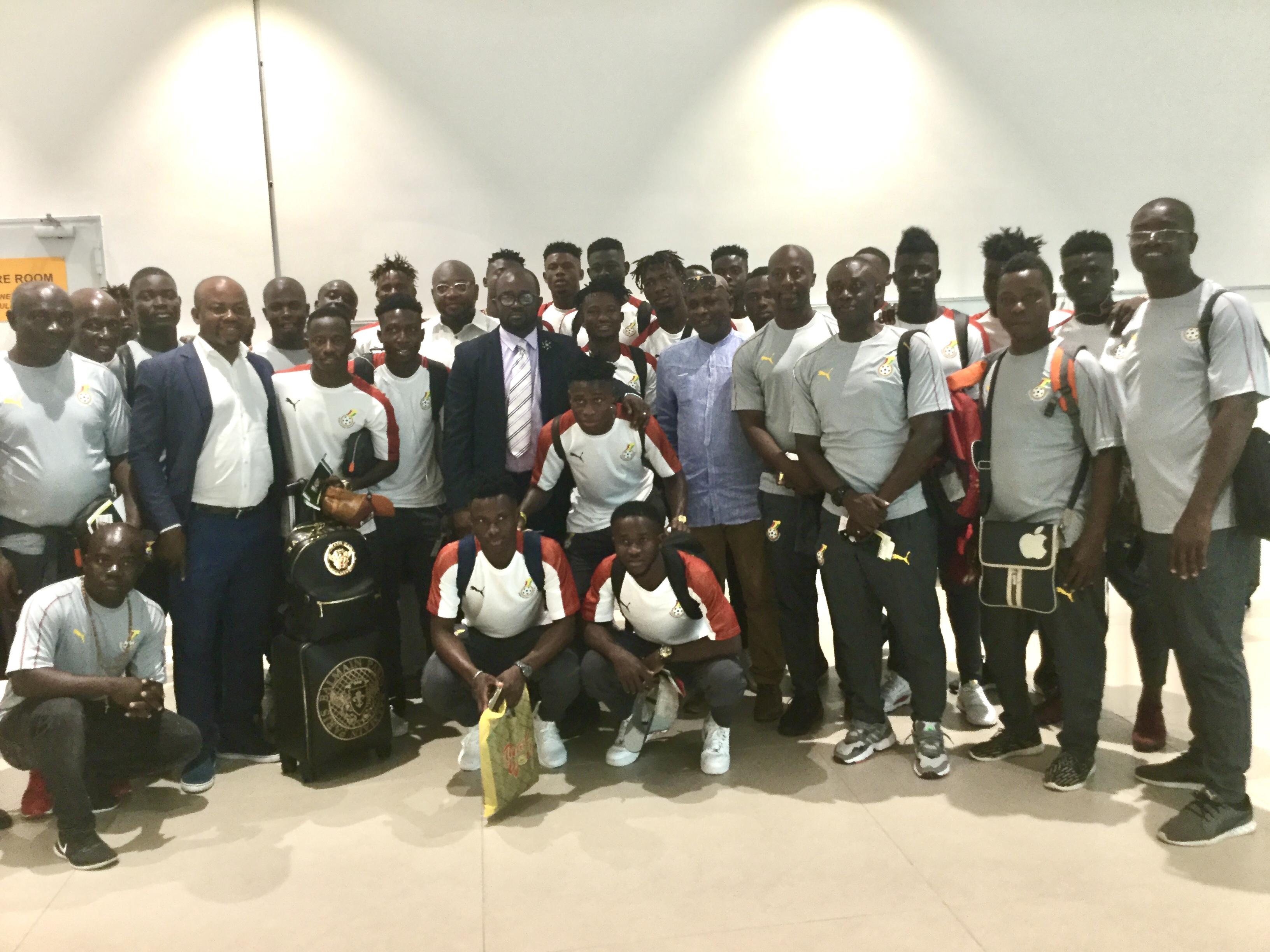 GFA President, Council Members see off Black Meteors