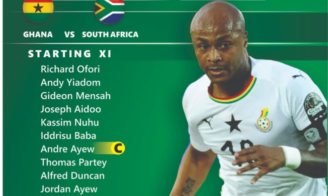 Kwesi Appiah names debutant Iddrisu Baba in starting line up