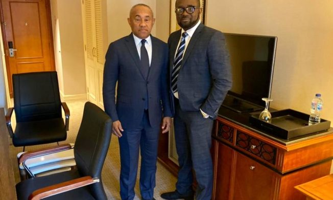 CAF President Ahmad assures GFA President of total support