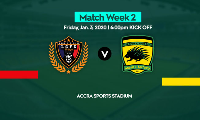Legon Cities, Kotoko to lock horns in first Friday night game of the season
