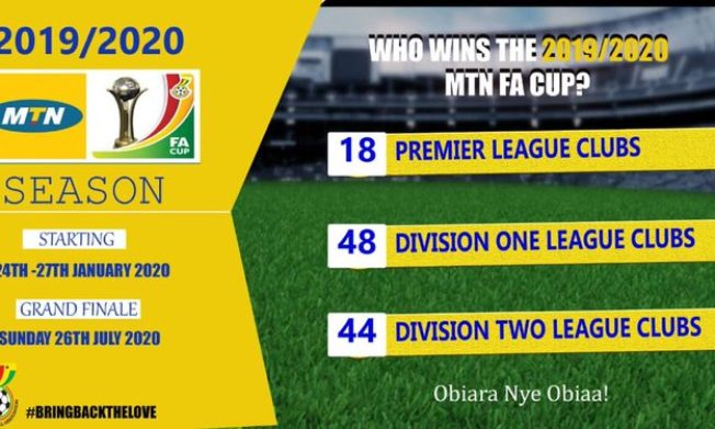 2019/2020 MTN FA Cup launch/Live draw to be held on Tuesday