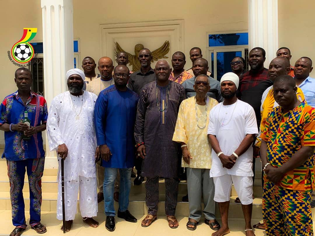 GFA President Kurt E.S Okraku leads delegation to Osu Mantse's Palace