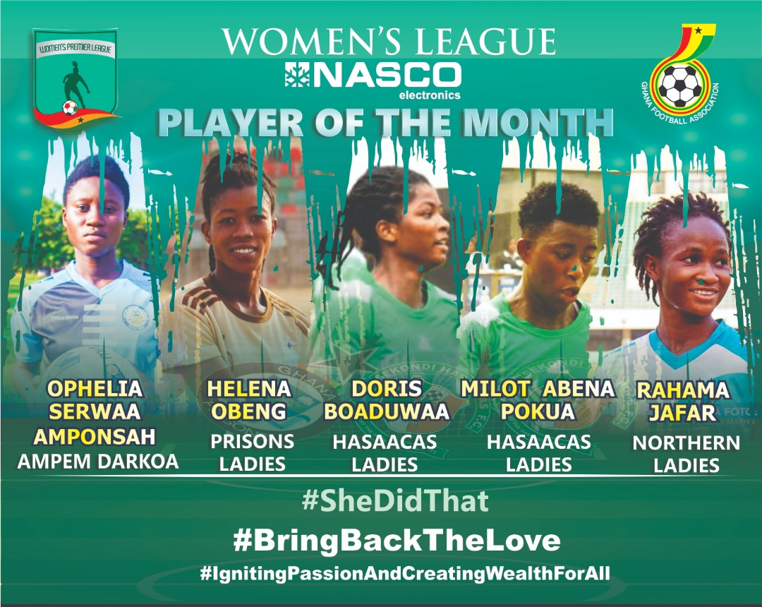 WPL: NASCO Women's Premier League Player of the month Nominations