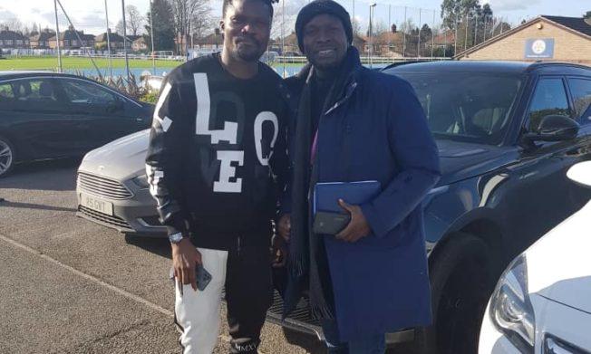 Black Stars coach CK Akunnor meets Leicester defender Daniel Amartey & Manager Brendan Rodgers