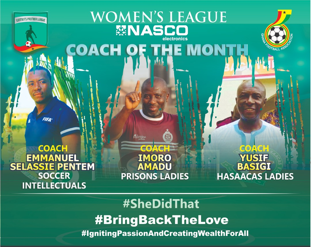 WPL: Nominations for NASCO Coach of the Month