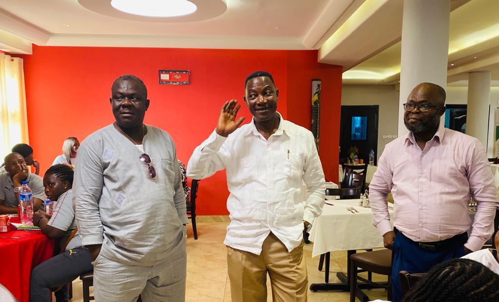 Ghana's Ambassador to Liberia visits Black Maidens on arrival