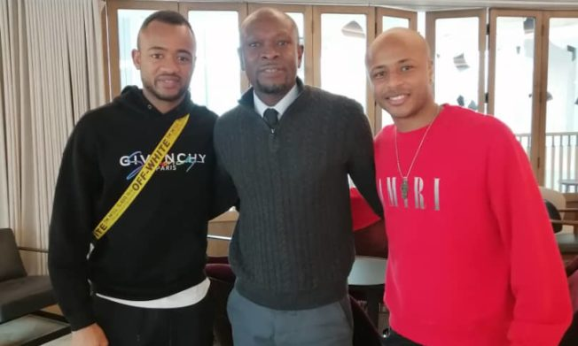 C.K. Akonnor visits Captain Andre Ayew in Wales