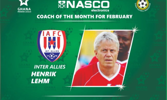 2019/20 GPL: Henrik Lehm wins February NASCO Coach of the Month award