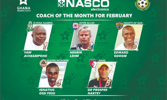 2019/20 GPL: February NASCO Coach of the Month nominees