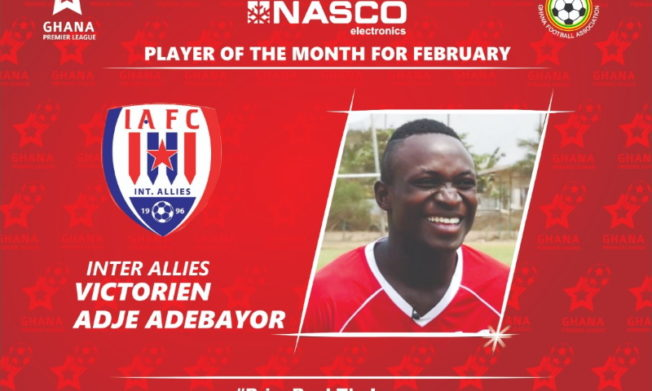 2019/20 GPL: Adebayor is February NASCO Player of the Month