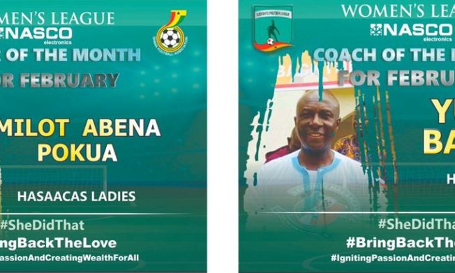 WPL: Hasaacas Ladies duo win NASCO Player and Coach of the Month for February awards