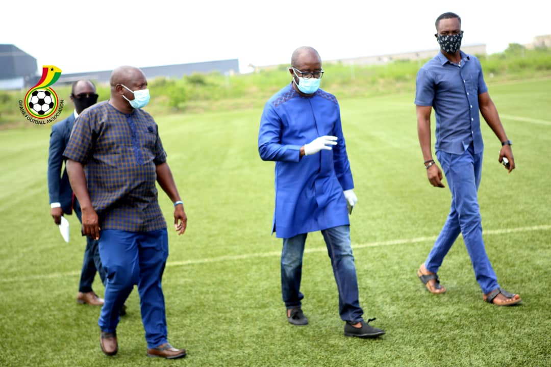 COVID-19 Isolation Centre: GFA President tours Ghanaman facility