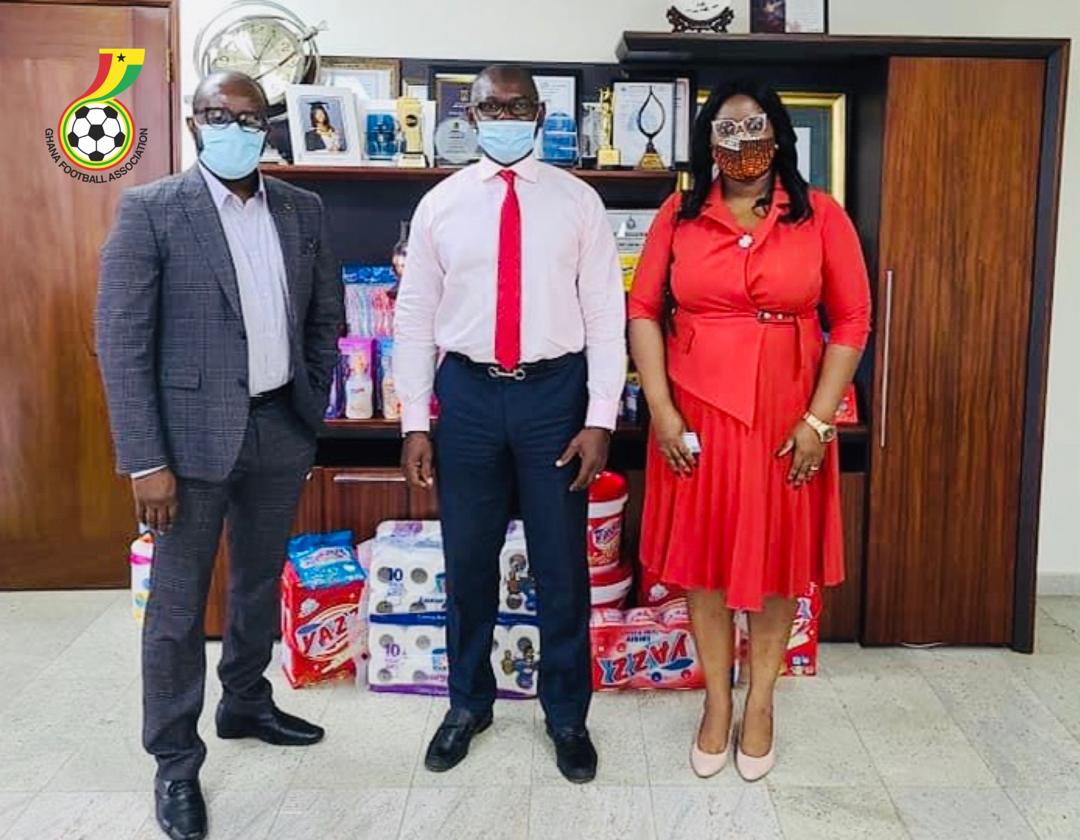 GFA President, WPL Chairperson visit Lexta Ghana Limited
