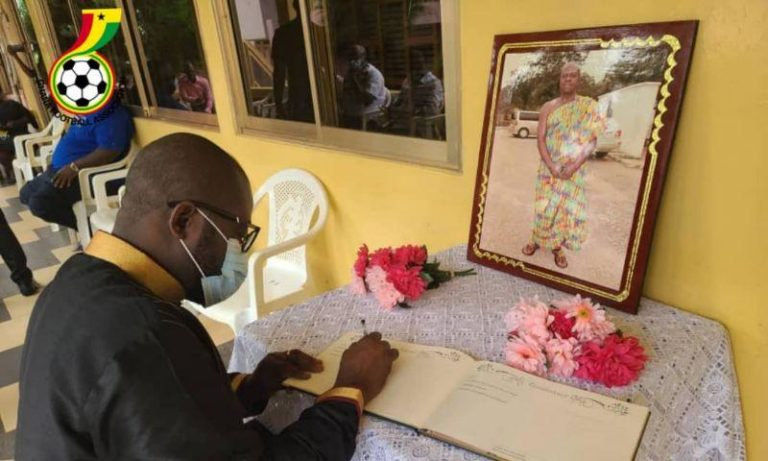 GFA delegation calls on family of late Opoku Afriyie