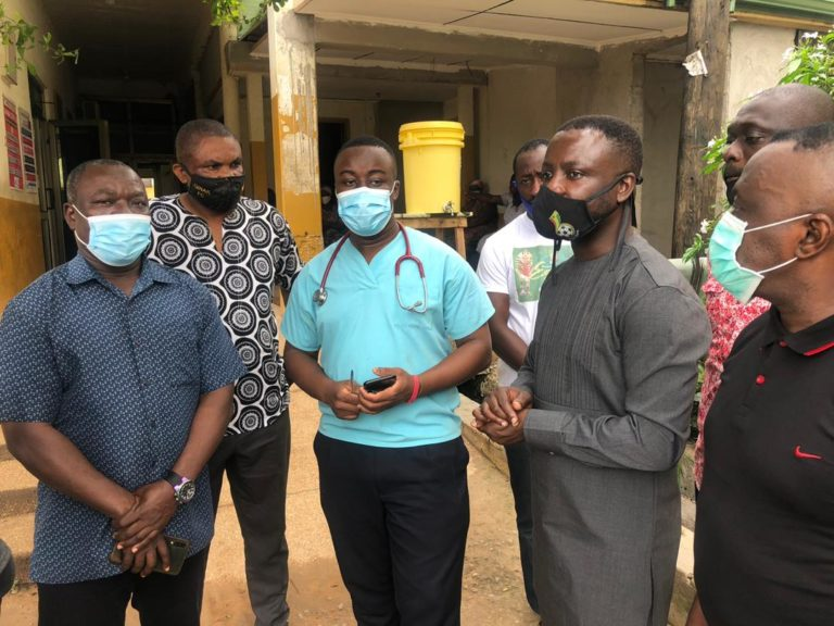 GFA delegation visits Offinso accident victims at KATH