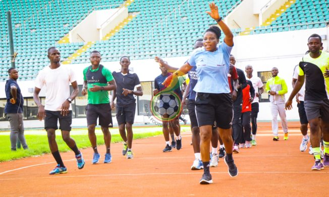 Pictures: Referees in Northern Sector undergoing fitness tests