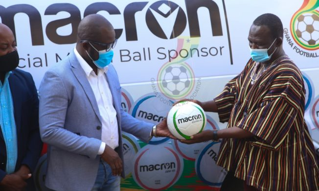 GFA takes delivery of Macron footballs and bibs ahead of new season