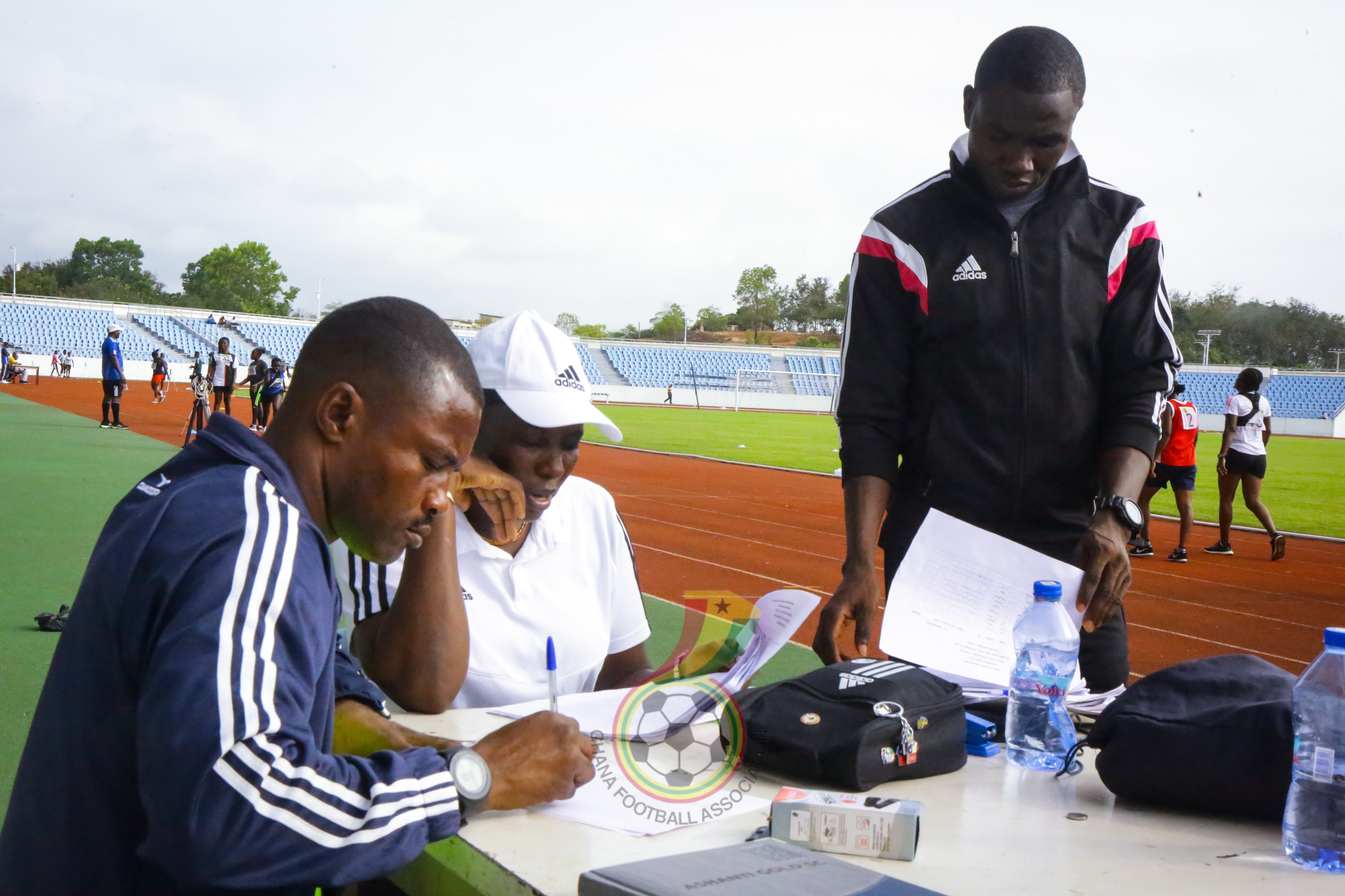 Pictures: Referees fitness training at Cape Coast