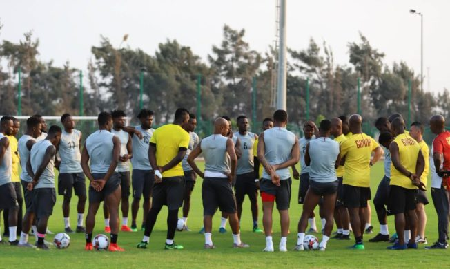 Update: Ghana holds first training, Tuesday afternoon