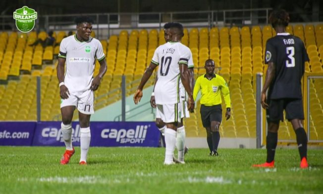 Inter Allies share spoils with Dreams FC at Accra stadium