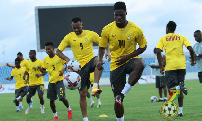 Pictures: The lads train ahead of Sudan tie