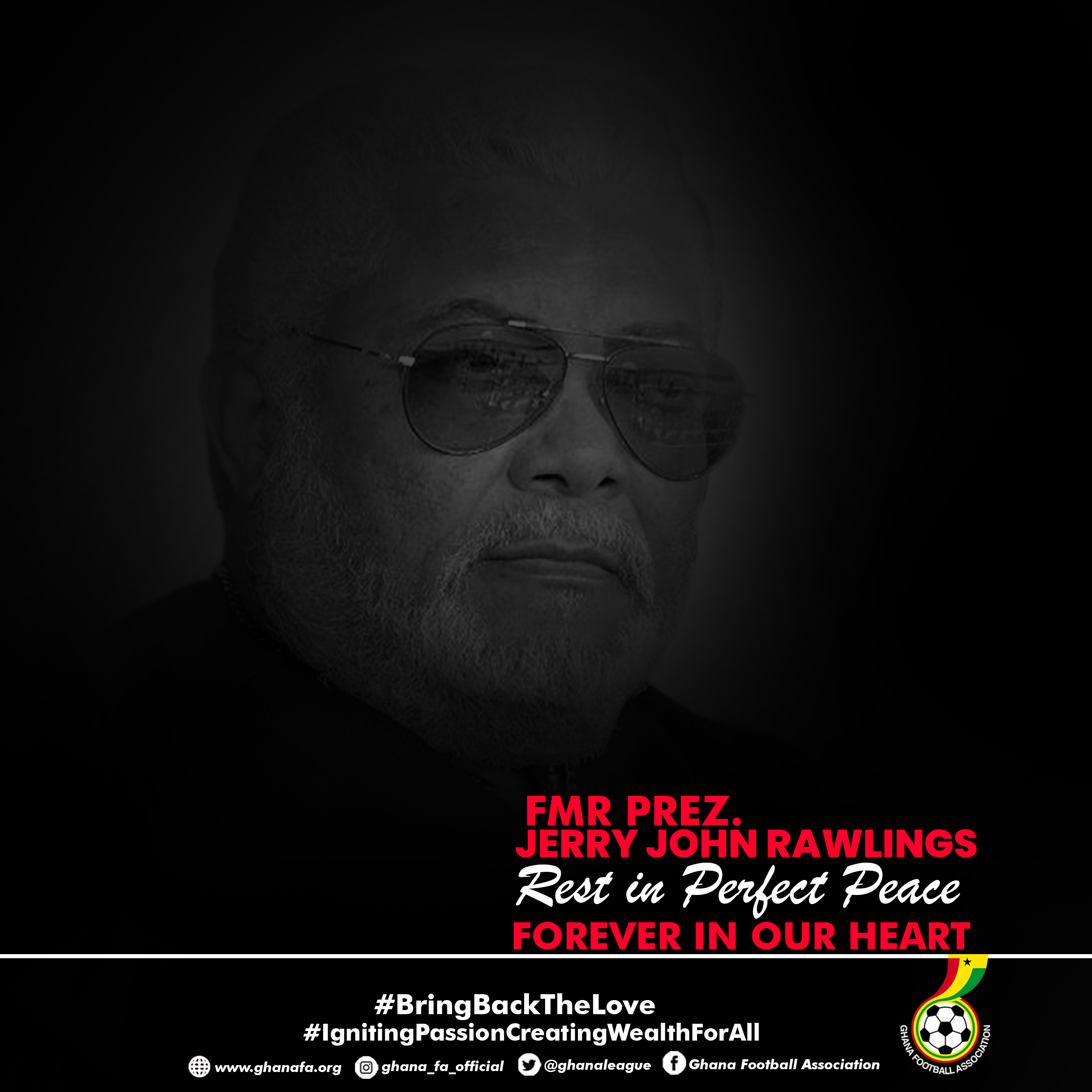 Mourning Jerry John Rawlings - Day 2: CAF President sends condolences to President Nana Addo