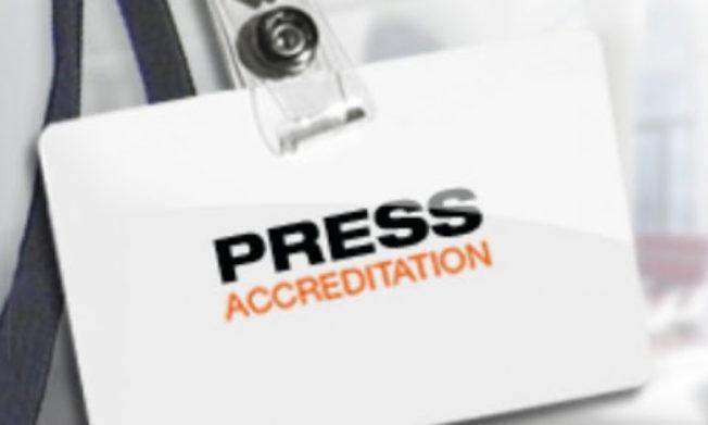 Accreditation for 2020/21 season
