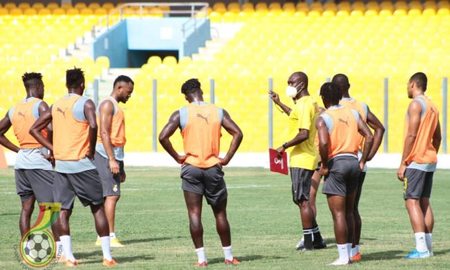 Pictures: Black Stars train ahead of Sudan trip