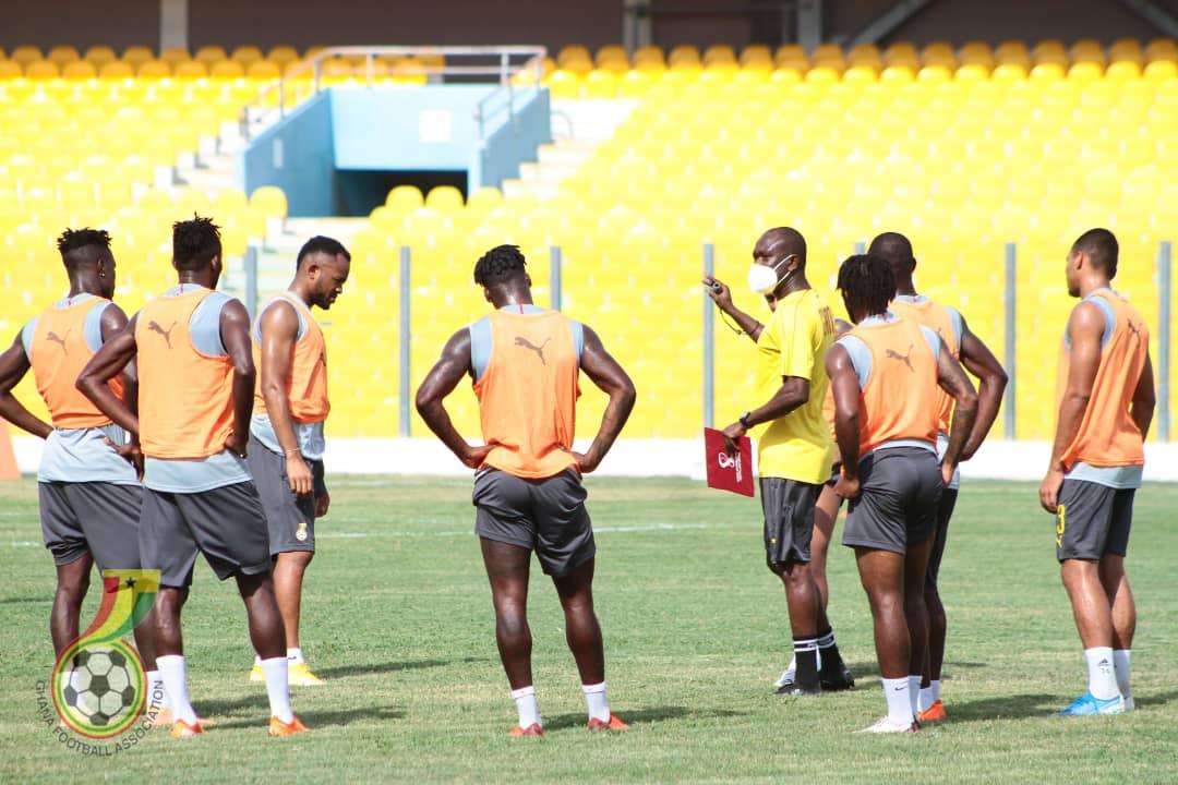 Pictures: Black Stars train ahead of Sudan trip