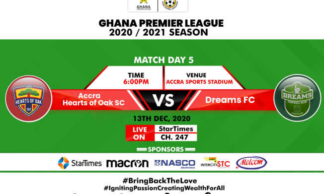 Winless Hearts of Oak play host to Dreams FC in Accra- Preview