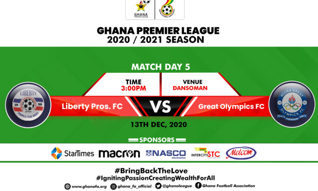 Liberty Professionals battle Great Olympics in Accra derby - Preview