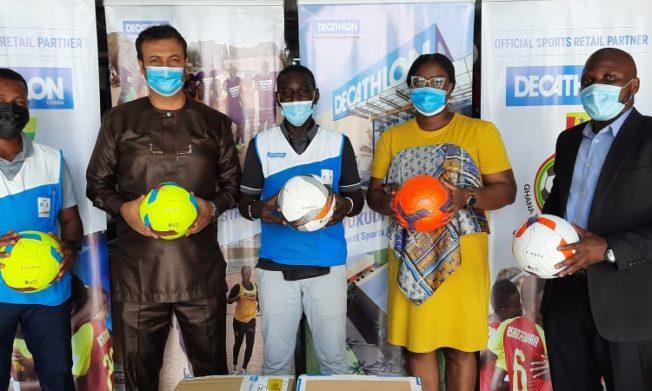 Decathlon Ghana presents 1000 balls to GFA