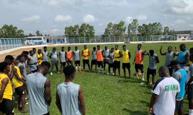 Pictures: Black Satellites train ahead of Nigeria clash