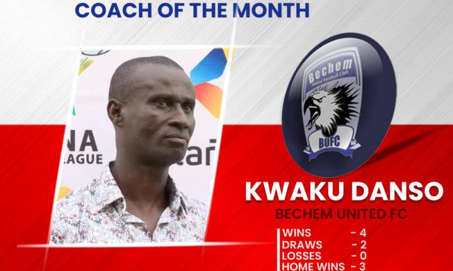 2020/21 GPL Season: Kwaku Danso wins December NASCO Coach of the Month Award
