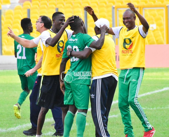 Bissue and Tophic score in each half as King Faisal draw with Elmina Sharks