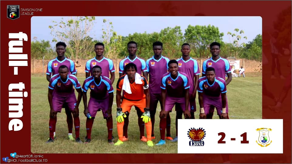 Division One League: Heart of Lions, Tema Youth, Accra Lions, Phar Rangers win on day one – Zone Three roundup