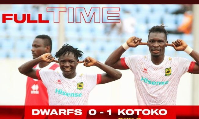 Asante Kotoko go third after slim win over Ebusua Dwarfs in Cape Coast