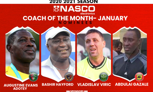 Four Coaches shortlisted for NASCO Coach of the Month Award - January