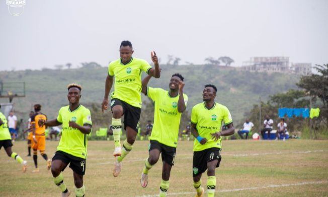Joseph Esso scores hat-trick as Dreams FC subdue AshantiGold at Dawu